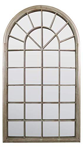 MirrorOutlet Espejo Grande de jardín rústico con múltiples Paneles y arqueado, para Exteriores, 1,21 m x 1,22 m