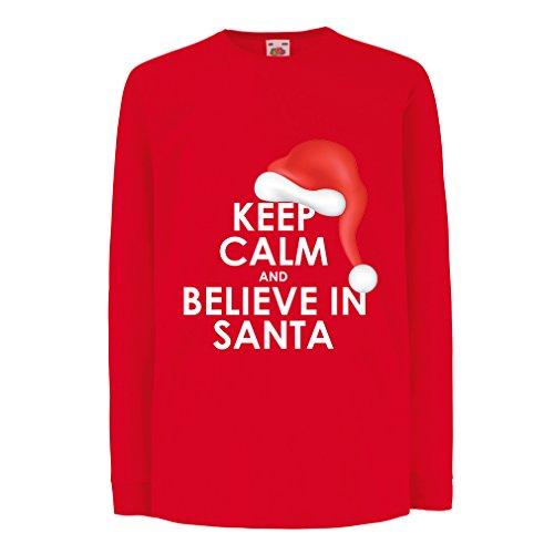 lepni.me Kids T-shirt houden kalm en geloven in Kerstmis, Kerstmis Outfits