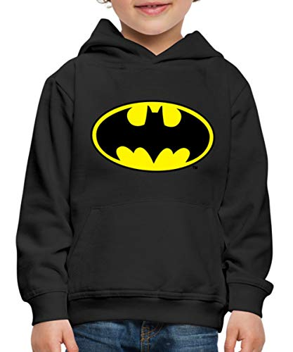 DC Comics Batman Logo Original Kinder Premium Hoodie, 110-116, Schwarz