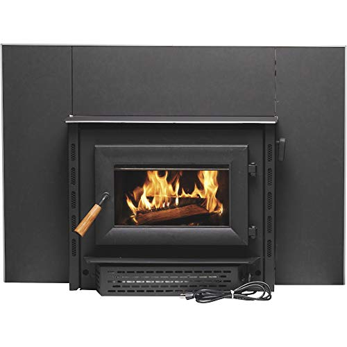 Vogelzang Deluxe Wood Burning Insert with Vent Kit - 69,000 BTU, EPA Certified, Model# VG1820E-D