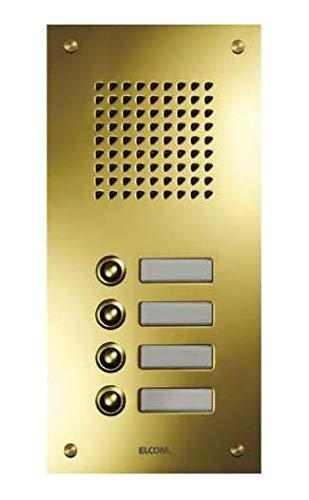 Elcom UP-Türstation TMG-10/1 10Taster,1-reih,PVD ESTA Klingeltableau für Türkommunikation 4250111845274