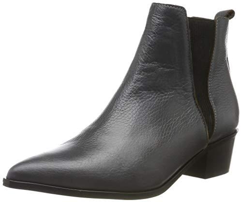 PIECES Damen PSHARA Leather Boot Stiefeletten, Grau Castlerock, 39 EU