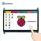 ELECROW Monitor Display Anzeigen IPS Bildschirm-7 Zoll 1024X600 HD TFT LCD mit Touchscreen für Himbeere Raspberry Pi B + / 2B Raspberry Pi 3 Windows 10/8.1/8/7