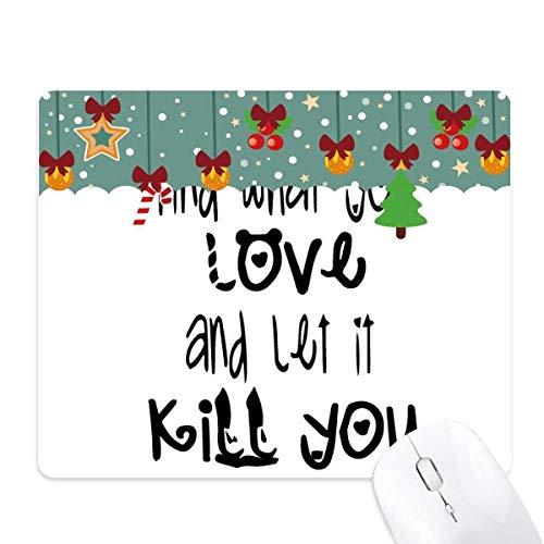 Engels woord ontwerp liefde en doden muismat spel office mat kerst rubber pad