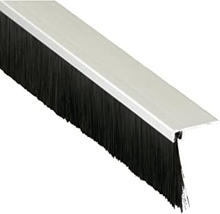 Pemko Brush Gasketing/Door Bottom, 90-Degree, Clear Anodized Aluminum with 1.375