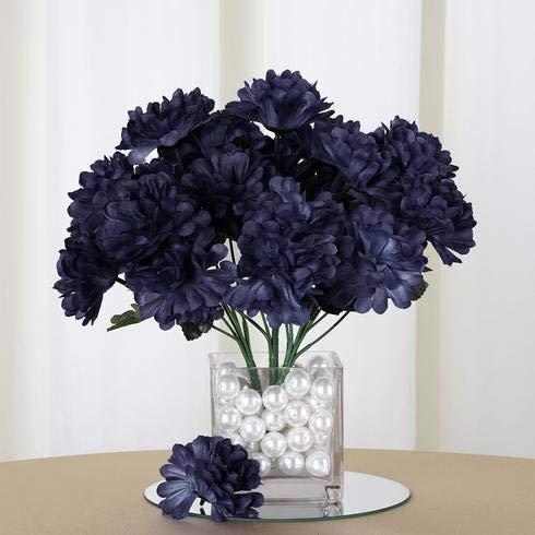 Efavormart 84 Artificial Chrysanthemum Mums Balls for DIY Wedding Bouquets Centerpieces Party Home Decoration Wholesale - Navy Blue
