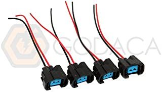 4x Connector for OBDII OBD2 NH1 Fuel Injector harness 1996-2002 Honda Acura