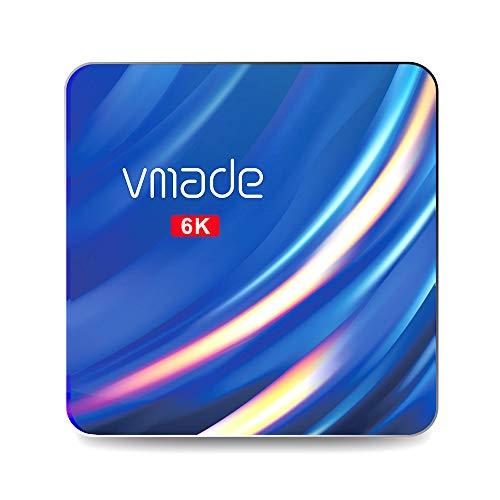 Android TV Box, Vmade T1PRO Max Android 10.0 TV Box 2 GB RAM 16 GB ROM, H616 Quad-Core 64 bits Arm Cortex-A53 @ hasta 1,5 GHz Soporta 2.4G 5G Dual WiFi / 6K / USB 3.0/H 265 Smart TV Box