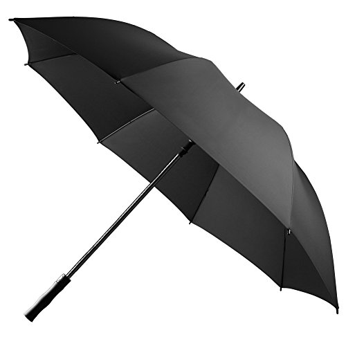 UROPHYLLA Golf Umbrella Windproof Large Rain Umbrella, Auto Open Oversize 62 Inch Black Stick Umbrella 8 Ribs Umbrella for Men and Women