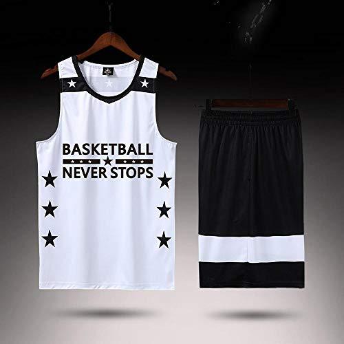 LHDDD NBA Baloncesto Uniformes Personalizado Transpirable Uniforme de Baloncesto, Equipo de Entrenamiento Uniforme de impresión de Jersey Sudadera Transpirable Camiseta Deportiva de Verano White-XXL