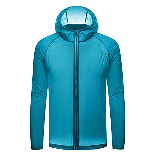 Chaqueta de piel de protección solar para hombres y mujeres, chaqueta delgada al aire libre, cortavientos impermeable