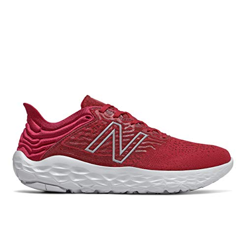 New Balance Men's Fresh Foam Beacon V3 Running Shoe, Neo Crimson/Neo Flame, 7