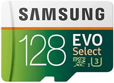 SAMSUNG EVO Select 128GB MicroSDXC UHS I U3 100MB s Full HD 4K UHD Memory Card with Adapter product image