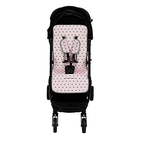 Colchoneta silla paseo universal transpirable de algodon (estrella rosa)