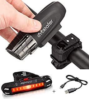 comprar comparacion Cycleafer® Luz Bicicleta Recargable USB, GARANTÍA DE 3 años Linterna Bicicleta con Luz Bicicleta Delantera, y Luz Trasera...