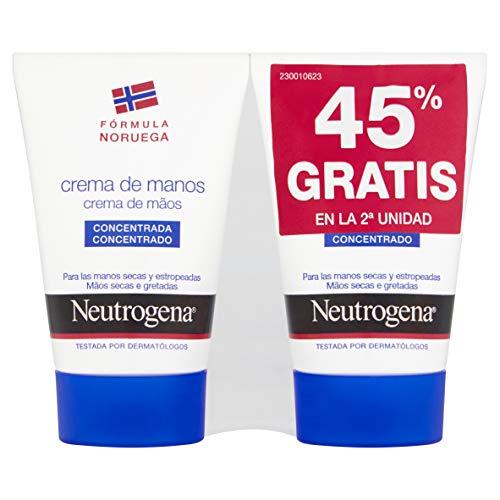 Neutrogena Cuidado Manos, Duplo crema de manos concentrada - 2 x 50...