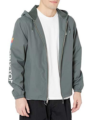 Brixton Men's Claxton Alton Zip Hood JKT Jacket, Evergreen, XXL