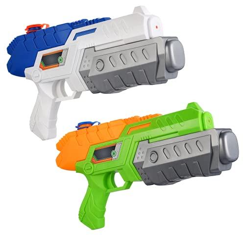 Gadpiparty Pistola de agua para niños, 2 unidades, para jugar en verano, natación, piscina, playa, exterior