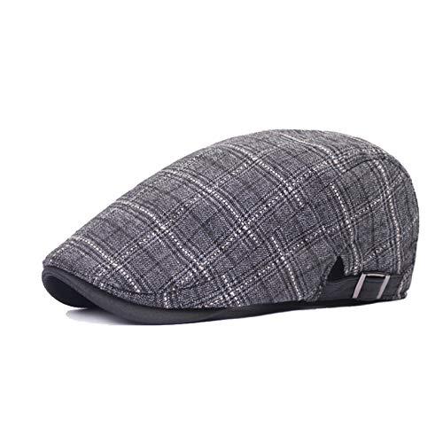 Sunbobo Accesorios Decorativos Hombre Beret Panel Baker Irish Newsboy Tweed Gatsby Duckbill Ivy Hiedra Hat Boina Masculina (Color : Gray, Size : Medium)