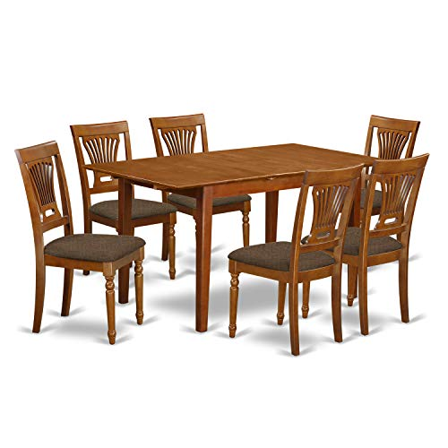 7 PC KitchenKitchen dinette set- Table with Leaf and 6 Chairs for Dining room