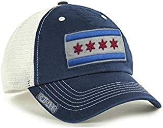 promo code 33e6f 28be3 City of Chicago Vintage Mesh Navy Adjustable Flag Hat by ThirtyFive55