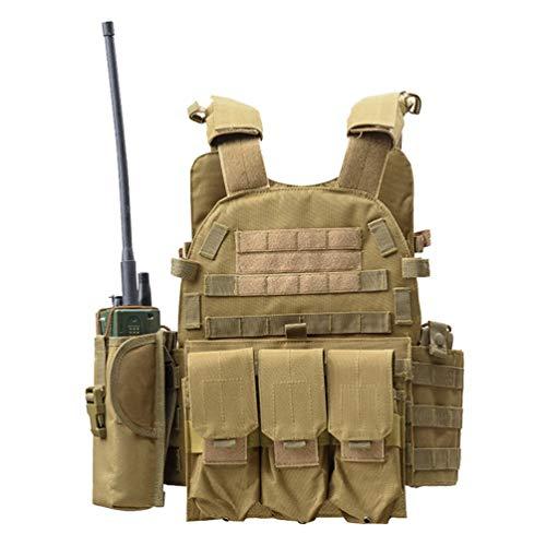 Xinwcang Sicherheitsweste Tactical Vest Paintball Outdoor Militär Taktisch Weste Camping Wandern One Size