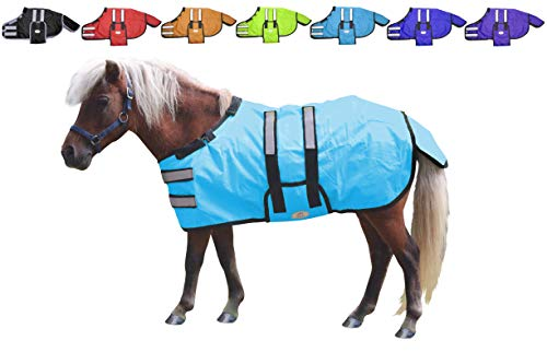 Derby Originals 600D Ripstop Waterproof Reflective Safety Winter Foal and Mini Horse Turnout Blanket 150g Medium Weight