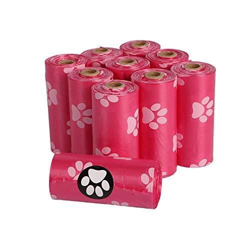 PLHZH Bolsa Basura para Mascotas Degradable Epi De Pata De Perro, Bolsa De Caca De Perro,Bolsa De Caca, Suministros para Mascotas, 40 Rollos + 2 Dispensadores.-C