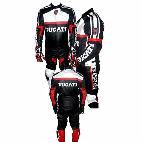 DUCATI - Traje de piel para motocicleta (2 piezas)
