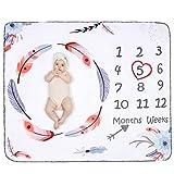 Babydecke Meilensteine Decke Baby Kuscheldecke Kuschelige Decke Fleecedecke Schmusedecke...