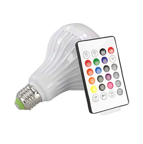 Bombilla LED de la música del Altavoz de luz LED RGB Música lámpara Color Que Cambia de Colores Smart Connection