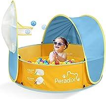 Peradix Piscina de Bolas para Niños y Tienda de Campaña para Piscina de Playa Bebe con toldo,Pop-up Tienda Plegable de...