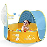 Peradix Tienda Playa Bebe Carpa Playa Pop up Tienda de Bebé, Piscinas para Niños Infantil con Techo, Carpa Plegable Portátil Protección Sol Anti UV 50, Ventilación (Azul)