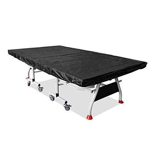 Grantien Funda Protectora para Mesa De Ping-Pong, Lona De Mesa De Tenis De Mesa con Cordón, 210D Oxford Negro 280 * 150cm