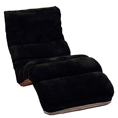 L-R-S-F Fauteuil Lounger Chaise Détachable Nettoyage Pliant Canapé Lit Chaise Balcon Lounge Chair (Couleur : Noir)