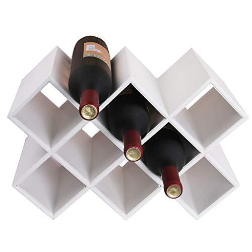 Porte-verres Wink rack decoration porte-bouteilles de vin en bois massif 8 compartiments a vin decorations de cave 41 * 20 * 28cm casier a bouteille en bois (Couleur : A)