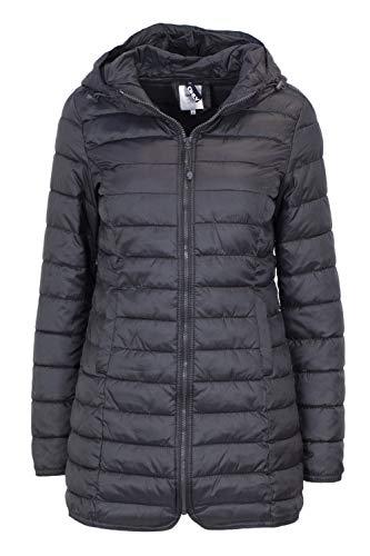 ONLY Damen onlTAHOE Shimmer Coat CC OTW Mantel, Grau (Phantom Phantom), 36 (Herstellergröße: S)