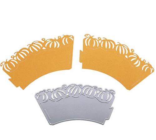 Pompoen Cake Cirkel DIY Mes Mold Koolstofstaal Mes Mold Metalen Snijden Sjabloon Die Cutter 6.4X12.2Cm