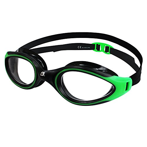 Barracuda Swim Goggle AQUATEC - Curved Lenses, Anti-Fog UV Protection, One-Piece Frame Soft Gaskets, Easy Adjusting Comfortable Leak Proof Fashion for Adults Men Women #35125 (Green)