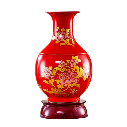 Humidifiers for Bedroom Chinese Style Ceramics Humidifiers, Vase shape Humidifier Whisper Quiet Operation, Waterless Auto-Off, 2.5L up to 24hrs for Bedroom, Living Room Humidifiers with Essential Oils