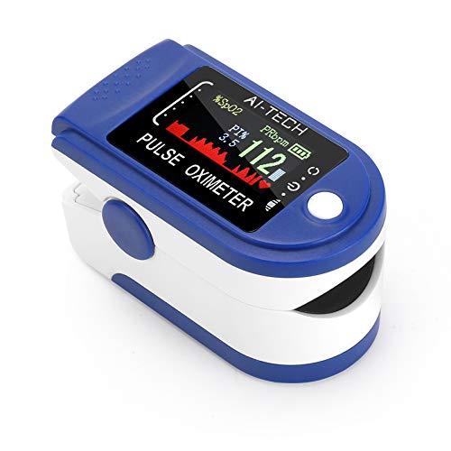 Saturimetro da dito sensore di saturazione di ossigeno e polso cardiofrequenzimetro di colori diversi con OLED display (E)