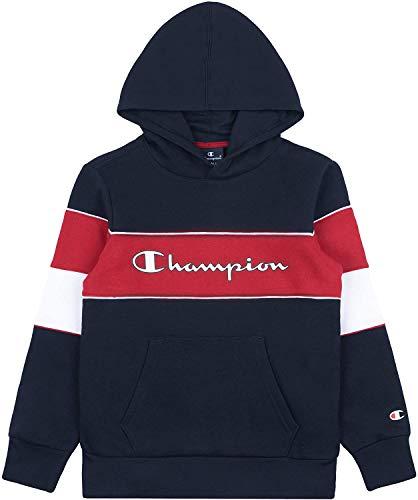 Champion Jungen Boys' Seasonal Color Block Hooded Sweatshirt Kapuzenpulli, Blau (BS501), Medium