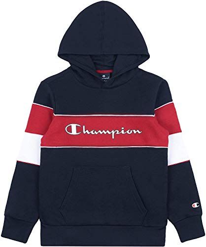Champion Jungen Boys\' Seasonal Color Block Hooded Sweatshirt Kapuzenpulli, Blau (BS501), Small