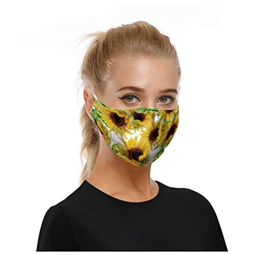Wtouhe Negro Fiesta de Halloween Luminosa Calavera Fantasma Media Cara Máscara de Terror Aterrador | Mascara Reutilizables | Mascarilla filtrada antipolución1PC