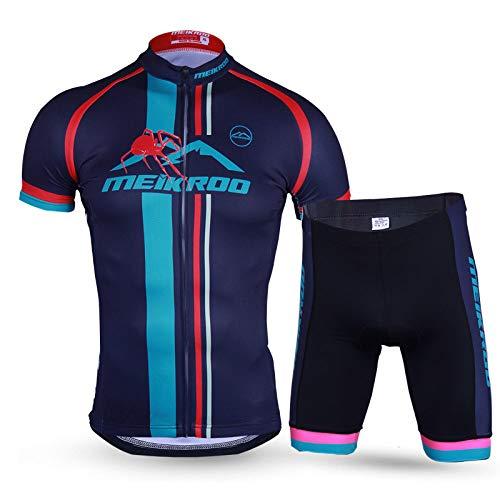 Conjunto Ciclismo Maillot,Trajes De Ciclismo Suave Transpirable De Secado Rápido Azul Marino...