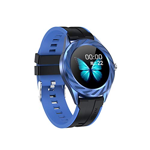 HBFLJYT Smart Watch IP67 Impermeable Compatible con teléfonos Android Tracker Fitness para Hombres Mujeres,Azul