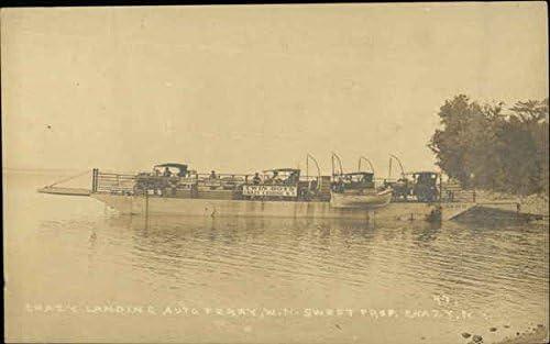 5 ☆ very Over item handling ☆ popular Chazy Landing Auto Ferry New Original Pos York Vintage NY
