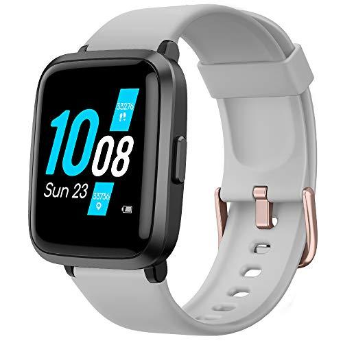 YAMAY Smartwatch Pressione Sanguigna con Saturimetro Cardiofrequenzimetro Orologio Fitness per Uomo Donna Impermeabile IP68 Oroloigo Sportivo Fitness Tracker Contapassi e Calorie per Android iOS
