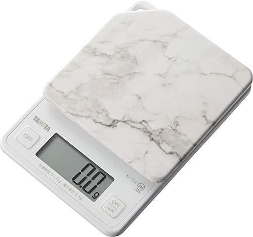 タニタ クッキングスケール キッチン はかり 料理 デジタル 1kg 0.5g単位 ストーンホワイト KJ-114 SWH すぐにピタッとはかれる