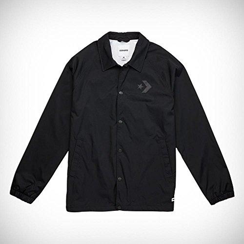 Converse Star Chev Coaches Jacket Jacke, Herren, Schwarz (Black)